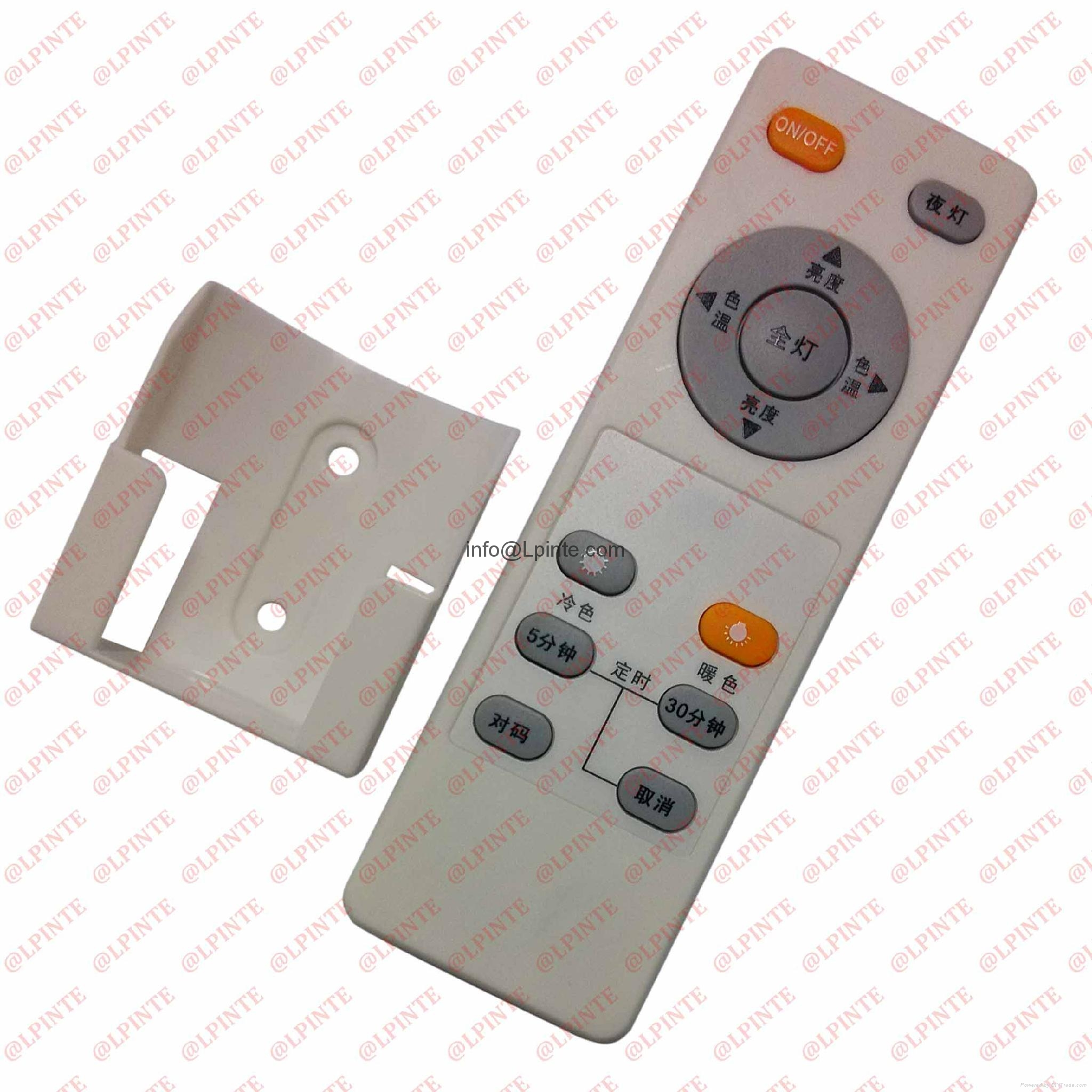 audio media tv remote control 7 keys rubber botton with holder LPI-R07B 3