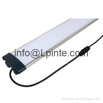 Wet resistant led luminaire for bathroom