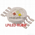 1W 3W power led rgb power led rgbw led 140LM