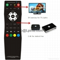 Android tv remote control and tv 2.4G learning google tv box RF wireless amino 4