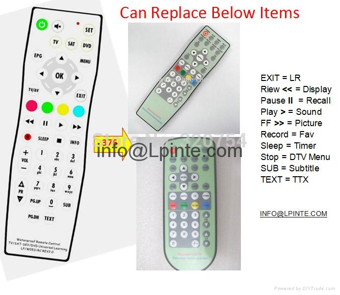replace waterproof tv remote control konci raysgem taka platina evervue 3