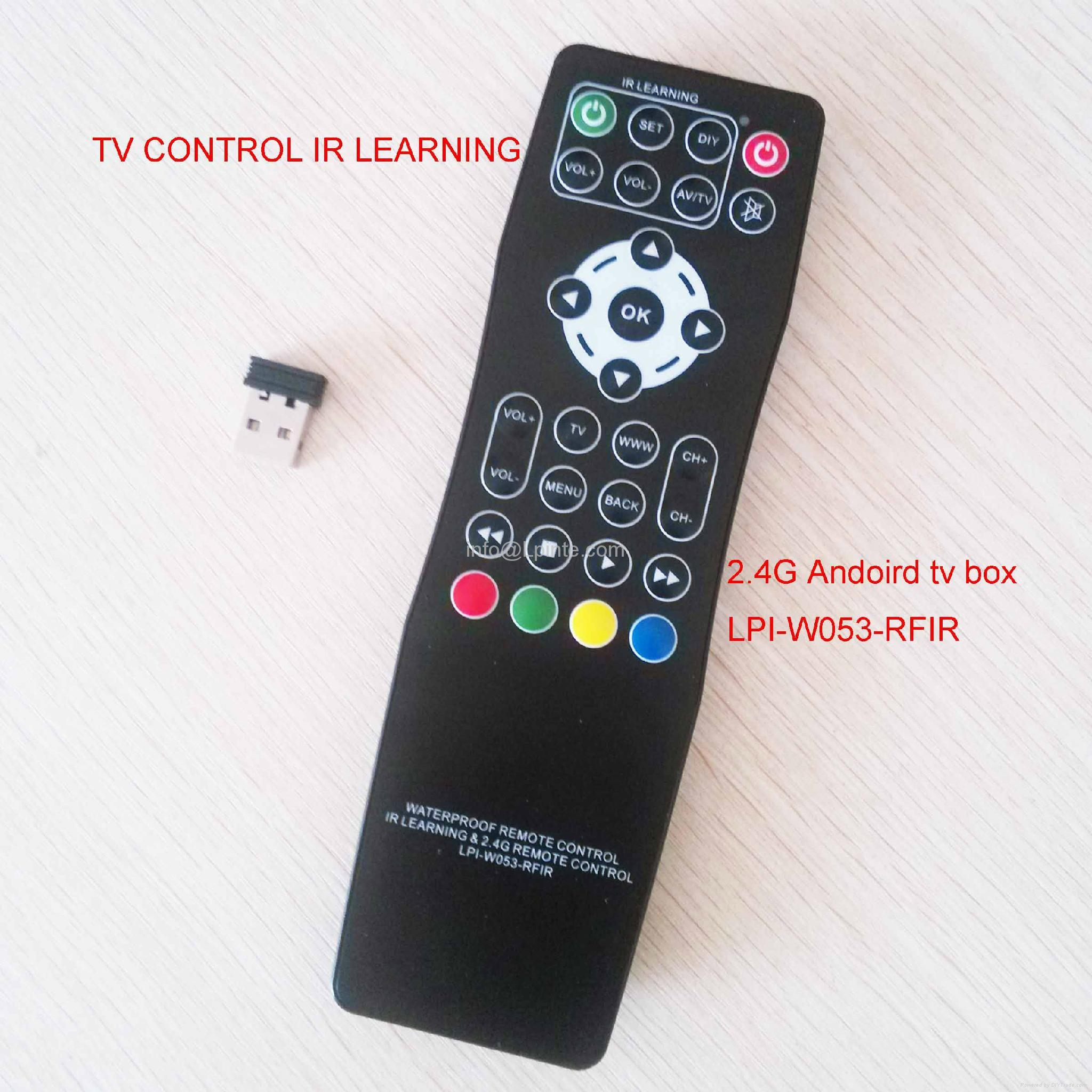 Android tv remote control and tv 2.4G learning google tv box RF wireless amino 3