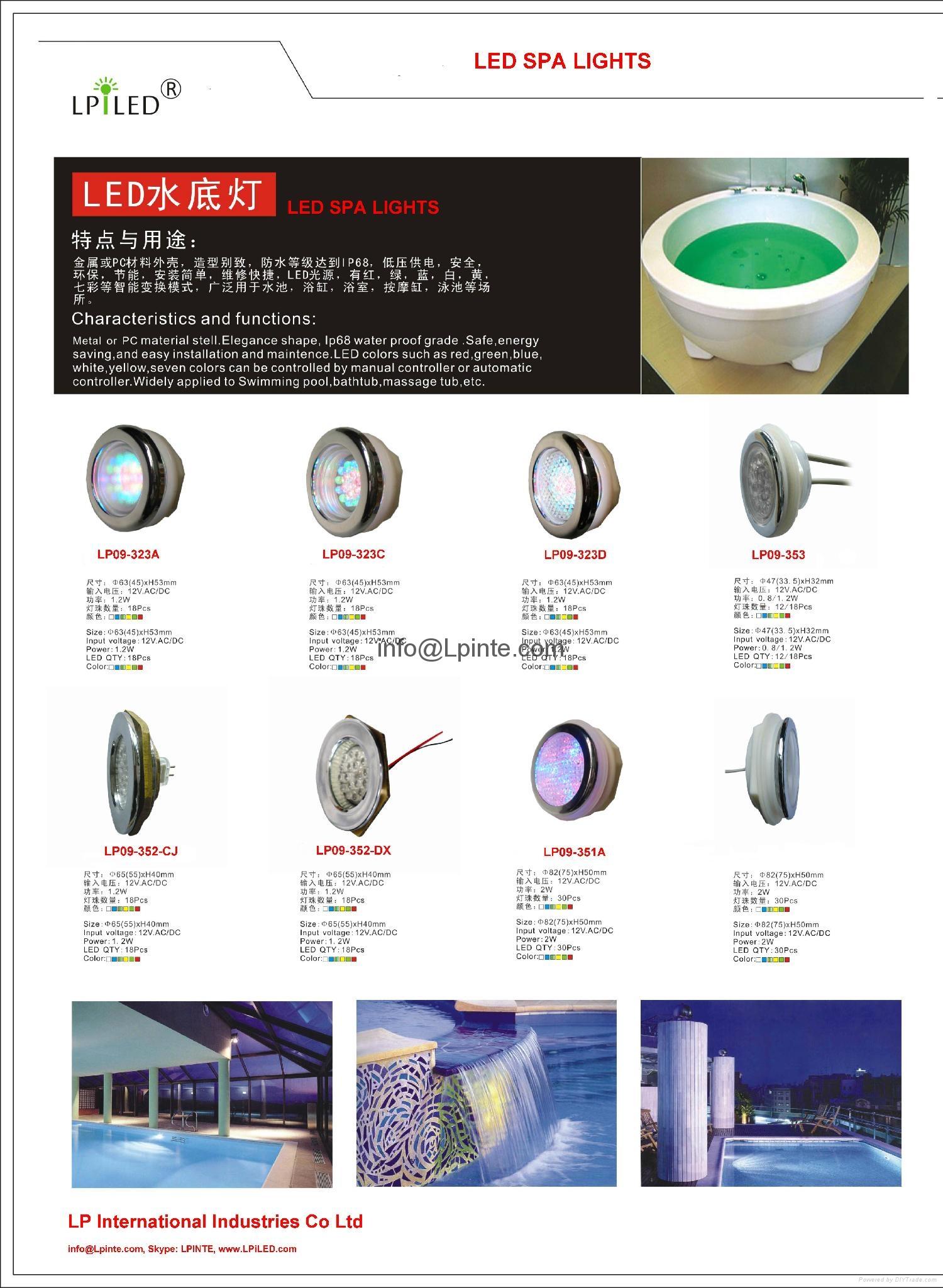 spa led fixture underwater IP68 led spa light spa illumination