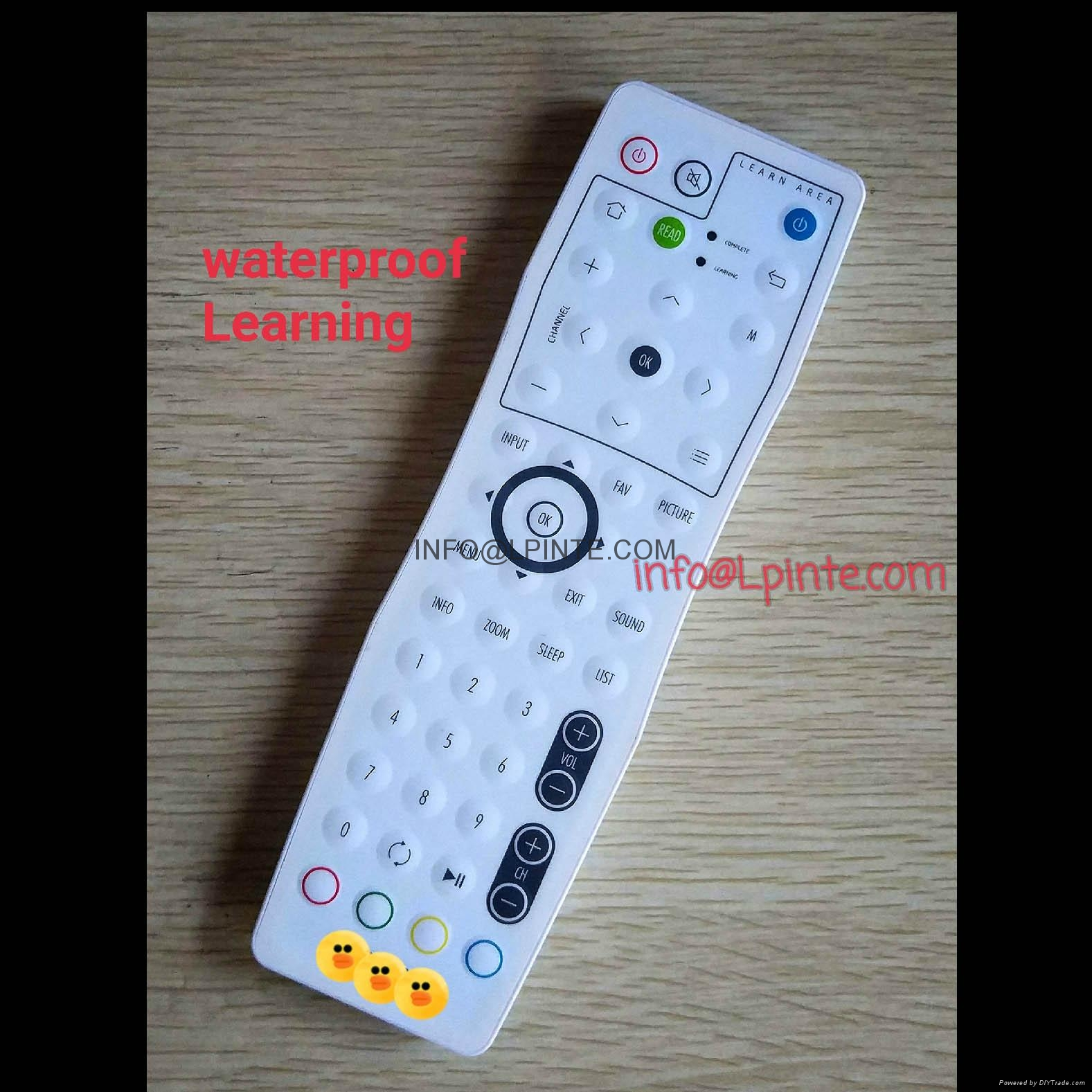 bathroom tv waterproof lcd tv remote control clean hospital wisdom learning 1