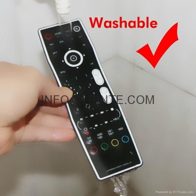 waterproof tv remote control for bathroom hospital hotel one key learning 4