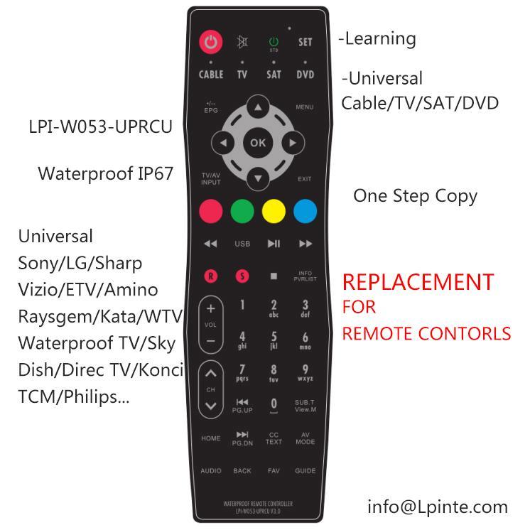 防水電視機遙控器鏡面電視 1