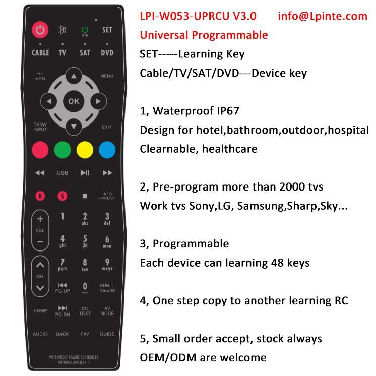 bathroom tv waterproof lcd tv remote control clean hospital wisdom learning 1