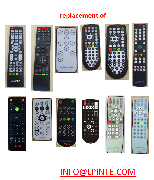 waterproof tv remote control replacements hotels