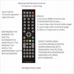 waterproof lcd tv 防水电视遥控器