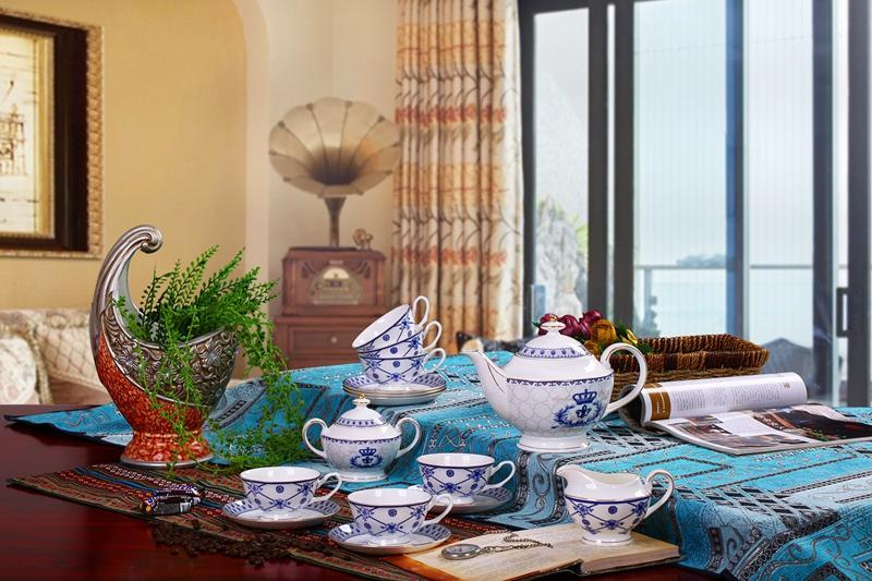 porcelain coffee set plate bowl cream pither 15pcs kit 1 6