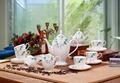 porcelain coffee set plate bowl cream pither 15pcs kit 1 1