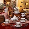porcelain coffee set plate bowl cream pither 15pcs kit 1 7