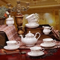 porcelain coffee set plate bowl cream pither 15pcs kit 1