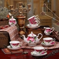 porcelain coffee set plate bowl cream pither 15pcs kit 1 9