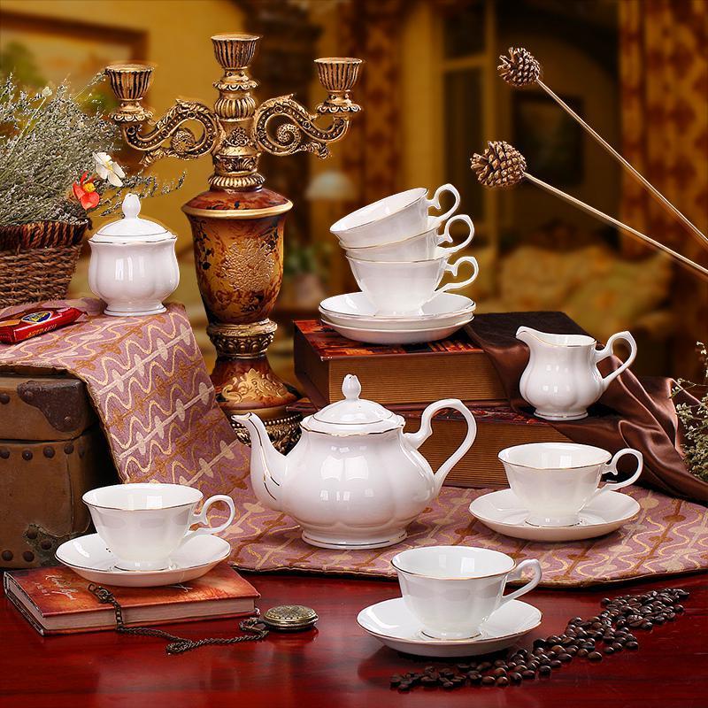 porcelain coffee set plate bowl cream pither 15pcs kit 1 12