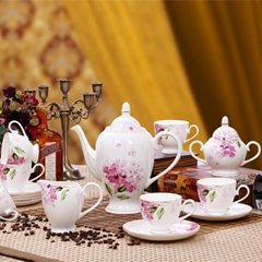 PORCELAIN COFFEE POT CUP 15PCS KIT 4