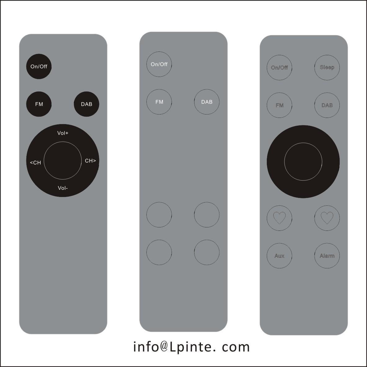metal remote controller metal remote control LPI-A13 aluminum remote control
