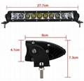 linear led work light for car road off solar truck