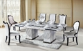 8 seater rectangle marble dining table