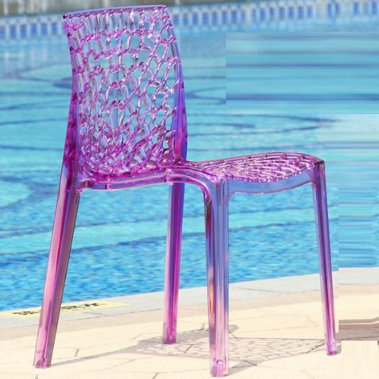 clear plastic Gruvyer chair/transparent plastic club chair furniture 1