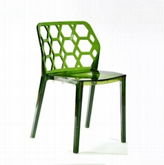 Clear Green Water Cube Leisure Plastic Chair