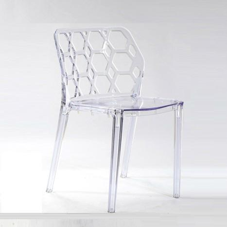Clear Green Water Cube Leisure Plastic Chair 3