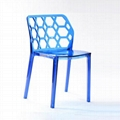 Clear Green Water Cube Leisure Plastic Chair 5