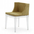 Kartell Mademoiselle Chair Home Clear Plastic Dining Chair 2