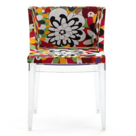 Kartell Mademoiselle Chair Home Clear Plastic Dining Chair 3