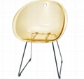 Gliss Chair Replica Gliss 921 Chair Furniture Transparent Plastic Dining Chair 4