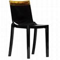 plastic clear stackable Hi cut chair furniture 2