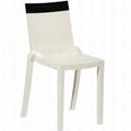 plastic clear stackable Hi cut chair furniture 3