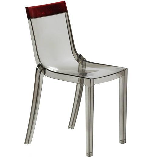 plastic clear stackable Hi cut chair furniture 4
