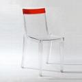 plastic clear stackable Hi cut chair