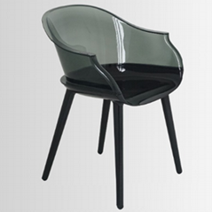 clear plastic Cyborg chair club furniture