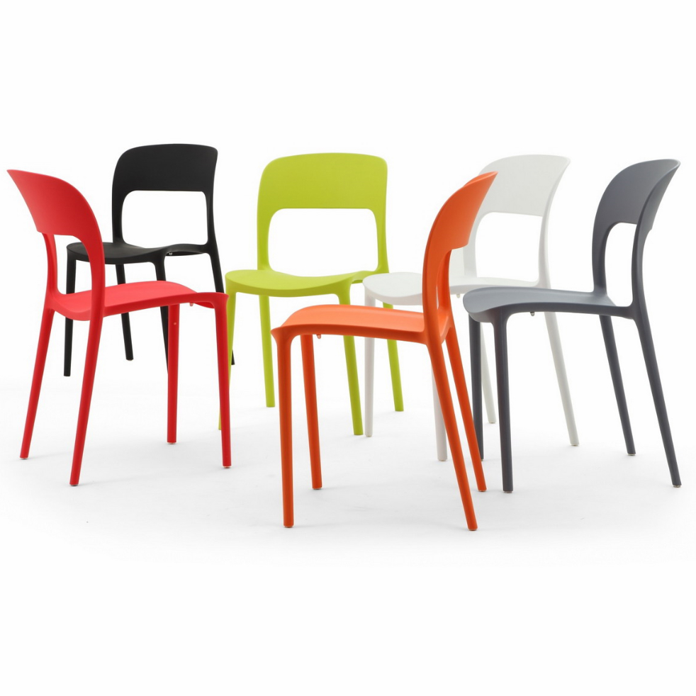 stackable plastic cafe Gipsy chair 3