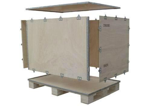 上海包顺包装厂家生产定制供应钢带箱 1