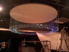 光纖水晶藝朮吊燈