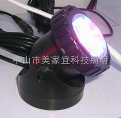 LED水陆两用灯塑料外壳水底射灯