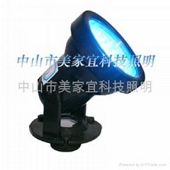 塑料外壳水底灯,水族灯,水下灯,水池灯,草坪灯,潜水灯