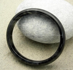 Burma Black Jadeite Jade Bangle Bracelet 57mm Jewelry