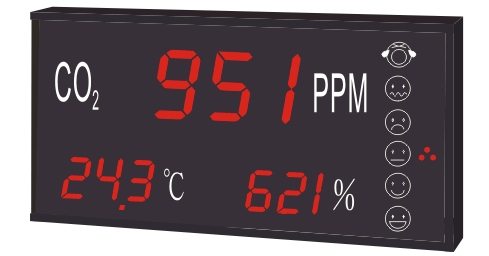CH880 CO2+温度+湿度三合一LED显示器 1
