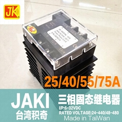 JAKI 三相固态继电器 JKAC4C25A-3B75 JK SSR