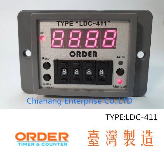 TAIWAN TIMER  Delay & Timing Relays ORDER   TYPE LDC-411 LDC-411-48 LDC-411-2 LDC-411-3