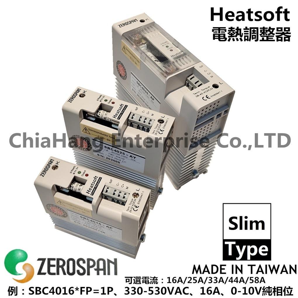 ZEROSPAN Thyristor power regulator Power controller SCR power regulator Zero crossing Single phase Single phase zero SB4016*FP SB2016*FP SB4016*AP SB4025*AP SB4033*AP SB4044*FP SB4058*AY HEATSOFT