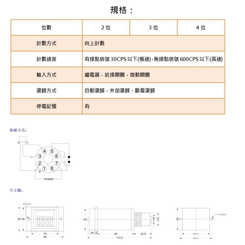TAIWAN ORDER digital TIMER digital counter LDC-411-48 LDC-411-2 LDC-411-3 LDC-411-4
