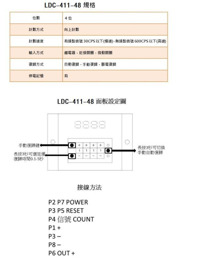 "TAIWAN ORDER TYPE""LDC-411""digital TIMER digital counter LDC-411-48 LDC-411-2 LDC-411-3 LDC-411-4"