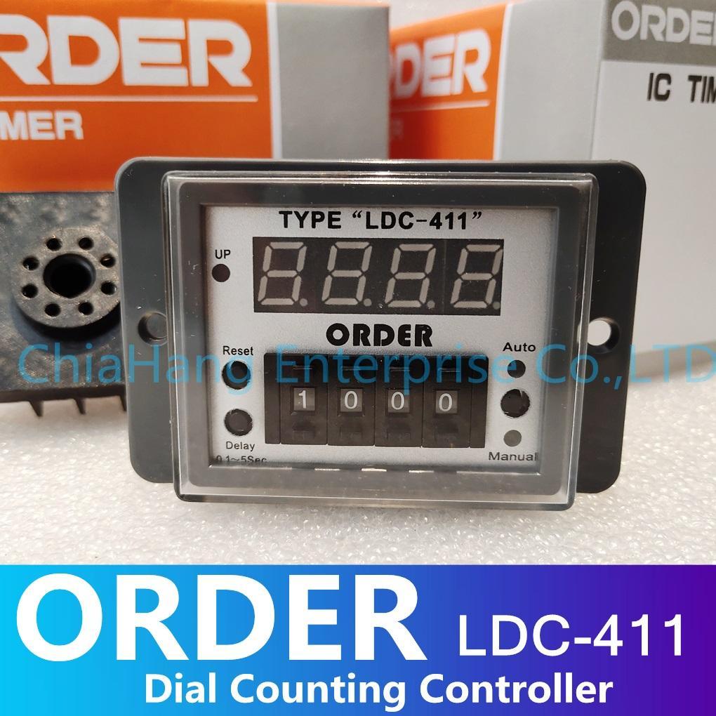 """臺灣 ORDER TYPE""""LDC-411"""" 指撥式計數器 食品機 麵包機專用"""