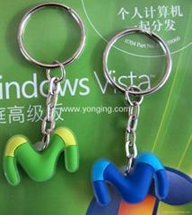 silicone keychain,rubber keychain