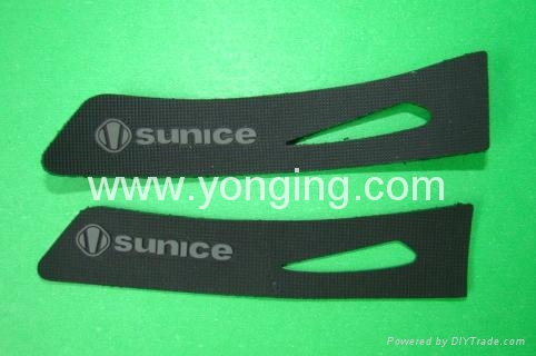 rubber logo with welcro backing